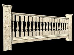porch veranda 3d model