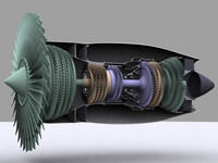 Turbofan Engine Cutaway.zip