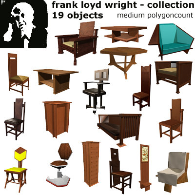 3d model frank loyd wright