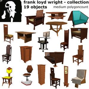 frank loyd wright 3d model