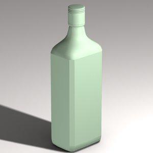 3d gin bottle model