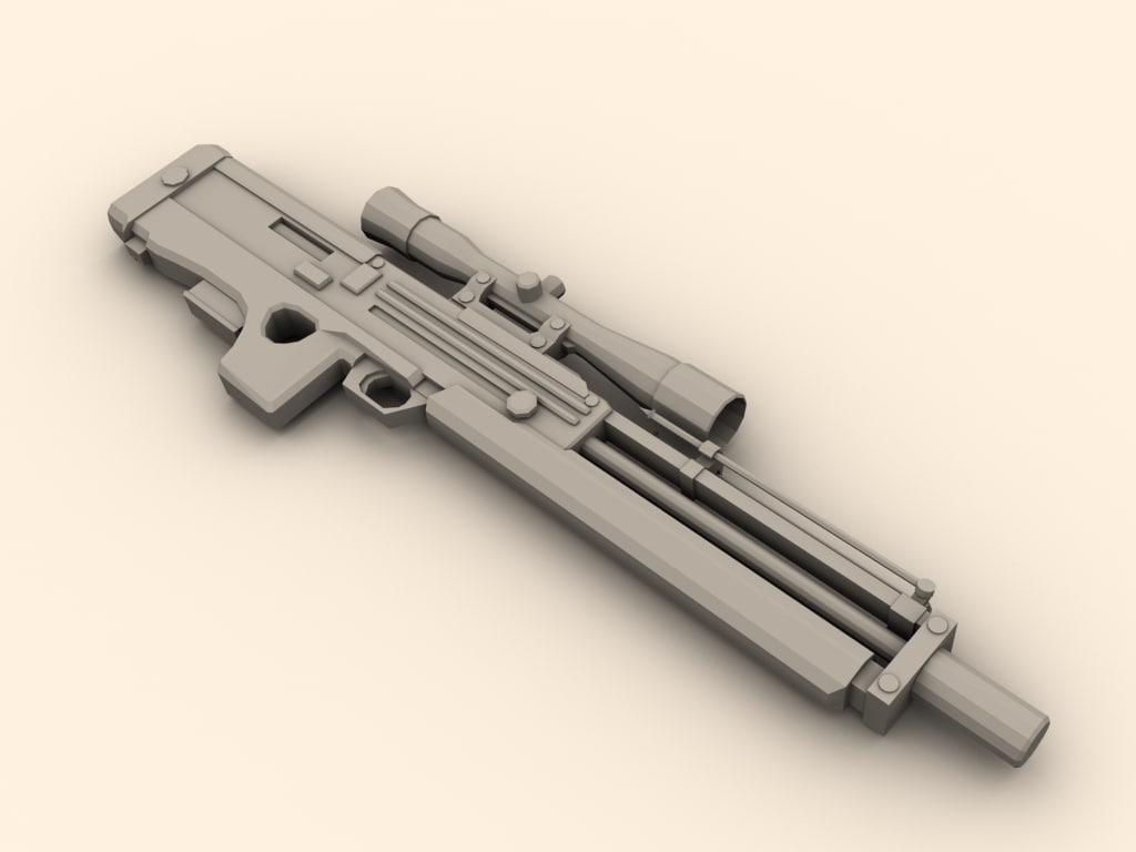 walther wa 2000 sniper rifle 3d model