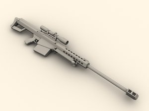 3d barrett m82a1 rifle model