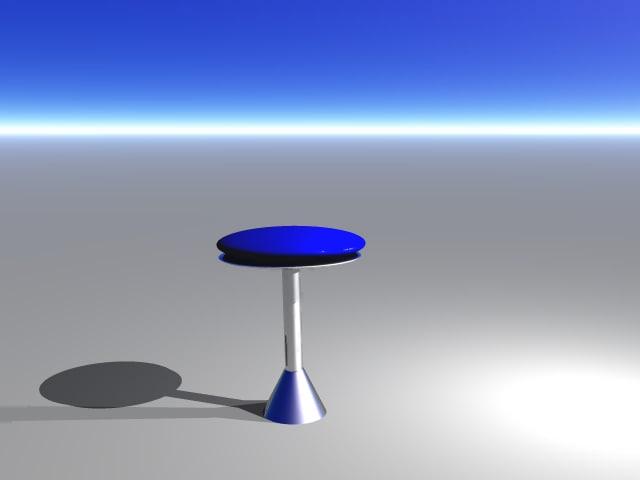 retro bar stool 3d model