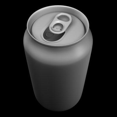 3d model soda beer
