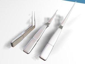 3d model ear forceps 01a