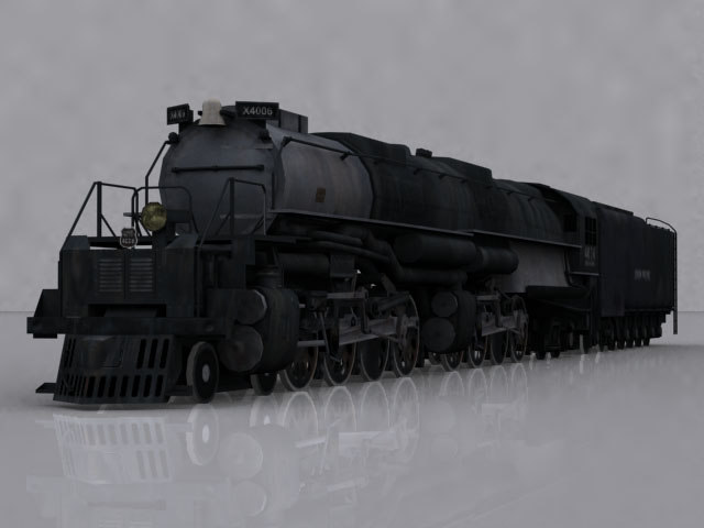 locomotive steam large 3d model