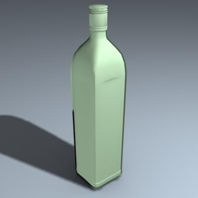 bushmills bottle 3d 3ds