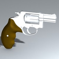 smith wesson 38 3d model