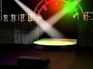 stage rock lighting 3d model