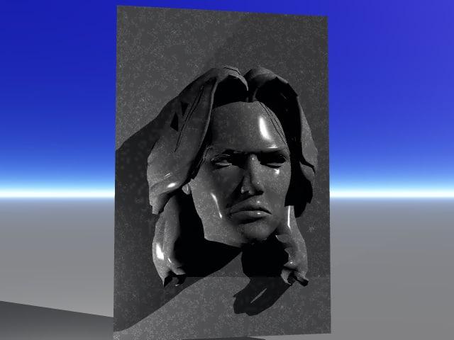 marble face 3d model