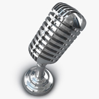 retro microphone 3d model