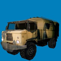 soviet truck gaz66 3d model