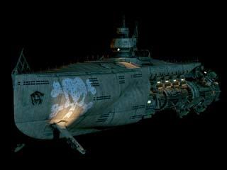 3d model space submarine