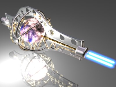 laser cannon 3d model