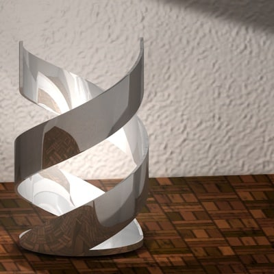 free lamp helix 3d model