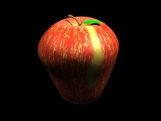 3d apple leaf model