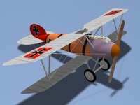 3d albatros dva fighter model