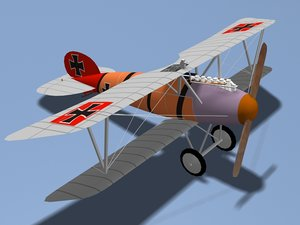 3d albatros dva fighter model