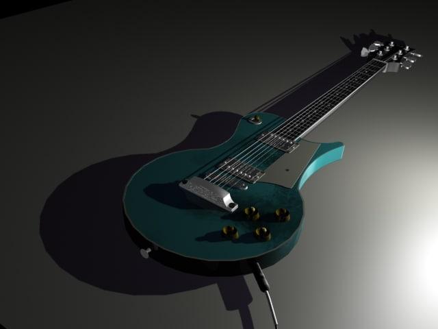3d model les paul guitar