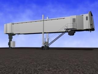 airport jetway 3d model