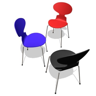3dsmax arne jacobsen chair ant