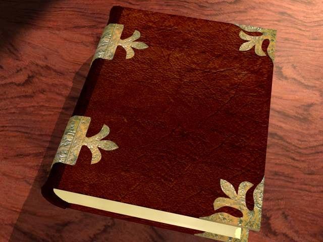 3d old book model