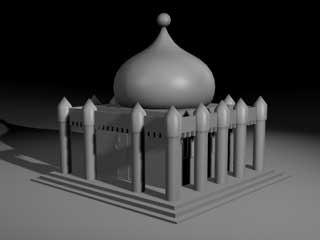 mosque building 3d model