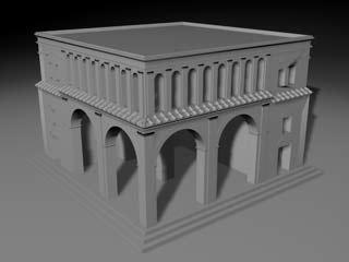 obj roman house building
