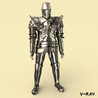 medieval iron armor 3d model