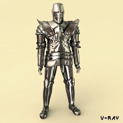 medieval iron armor 3d model