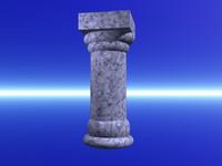 blue pillar 3d model