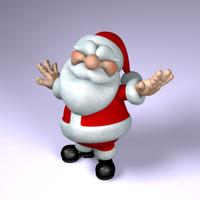 3d santa claus model