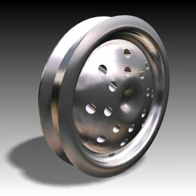 wheel hubcap alloy 3d model