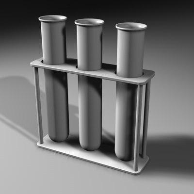 3dsmax test tubes rack