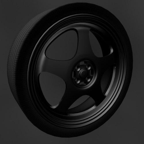 wheels spoon 3d model