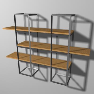 shelf rack 3d max