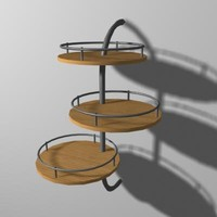 3d model shelf rack