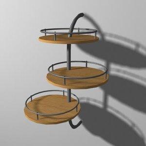 3d model shelf rack