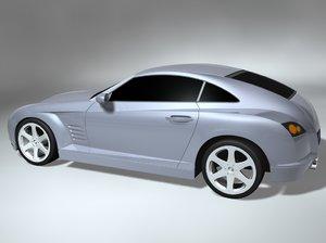 chrysler crossfire concept 3d model
