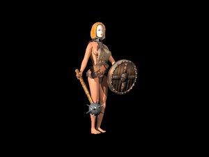female warrior obj