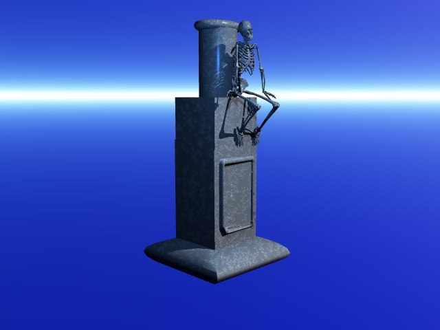 stone skeleton 3d model