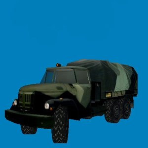 soviet truck zil 3d model