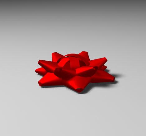 christmas bow 3d model