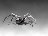 armored robot spider 3d model