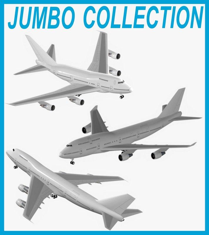 3d model jumbo airbus a380-800
