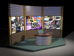 tv news set 3d model