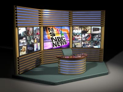 tv news set 3d model