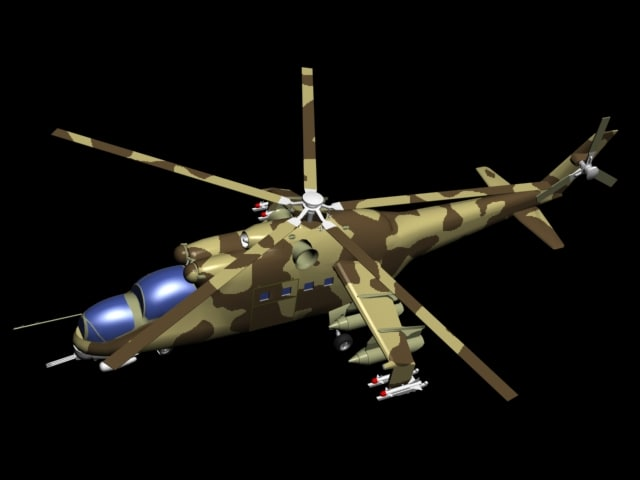 3d model hind24 soviet military
