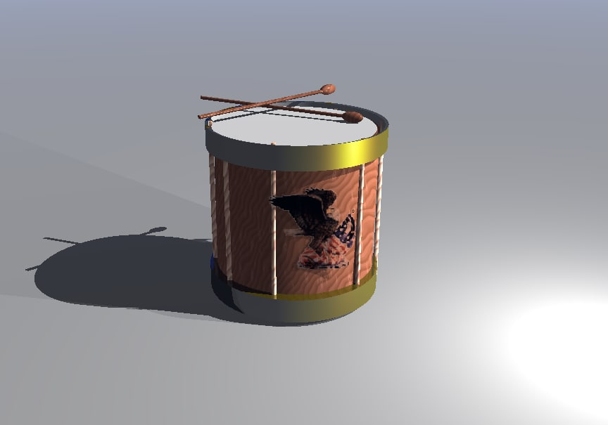3d model civil war drum